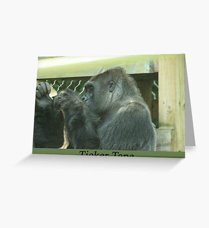 Ticker Tape Greeting Card