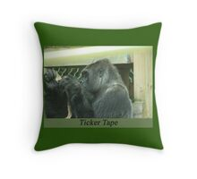 Ticker Tape Throw Pillow
