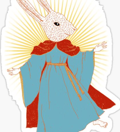Saint Bunny has your back Sticker