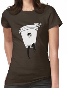 Coffee Craziness Womens Fitted T-Shirt