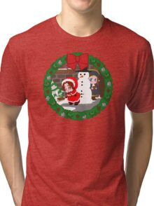 Christmas Chibitalia and Holy Rome Tri-blend T-Shirt
