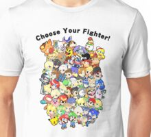 Super Smash Bros. All 58 Characters! Choose Your Fighter!! Group Unisex T-Shirt