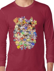 Super Smash Bros. All 58 Characters! Group Long Sleeve T-Shirt