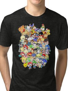 Super Smash Bros. All 58 Characters! Group Tri-blend T-Shirt