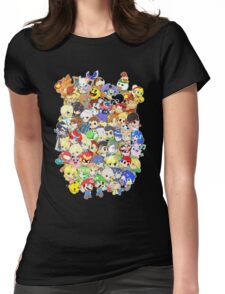 Super Smash Bros. All 58 Characters! Group Womens Fitted T-Shirt
