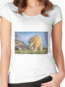 ..its 20 C to  hot on the North Pole.. Women's Fitted Scoop T-Shirt