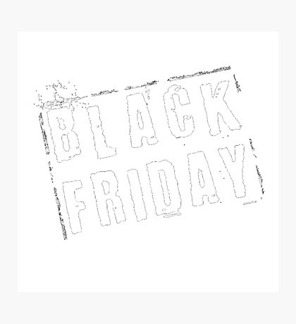 Black Friday Photographic Print