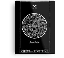 Wheel of Fortune Tarot X Metal Print