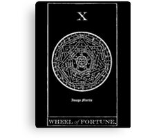 Wheel of Fortune Tarot X Canvas Print