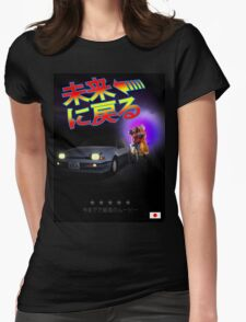 Nissan Exa Back to the Future (JAP) Womens Fitted T-Shirt