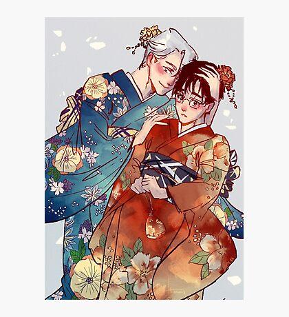 Victuuri Kimonos Photographic Print