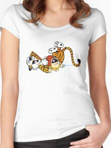 Calvin Hobbes Women's Fitted Scoop T-Shirt