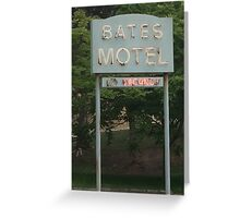 Bates Motel Sign Greeting Card