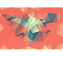 Autumn Polygon Photographic Print