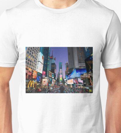 Times Square at Dusk Unisex T-Shirt