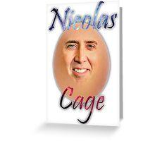 Nicolas ''Egg'' Cage Greeting Card