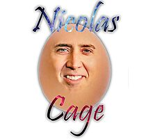 Nicolas ''Egg'' Cage Photographic Print