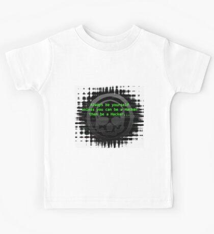 Hacker 1.0 - Geek Philosophy style skull - Software, coding and hacking designs  Kids Tee