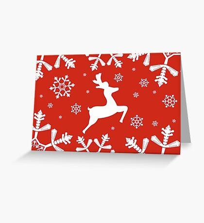 Snowy Reindeer Greeting Card