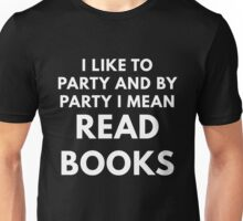 Reading Books Party Unisex T-Shirt