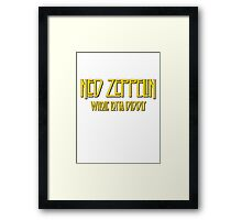 Ned Zeppelin - Whole Lotta Diddly (Simpsons) Framed Print