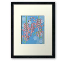 Hex grid  Framed Print
