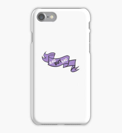 Rad but sad cute ribbon iPhone Case/Skin