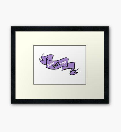 Rad but sad cute ribbon Framed Print