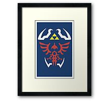 Zelda Triforce/Hylian Shield Design Framed Print