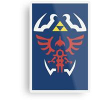 Zelda Triforce/Hylian Shield Design Metal Print