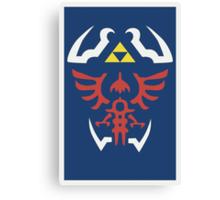 Zelda Triforce/Hylian Shield Design Canvas Print