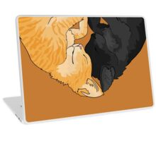 Ogg and Flac Black and Orange Tabby Kitten Heart Laptop Skin