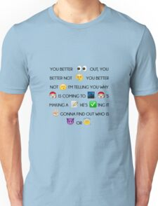 Santa Claus Is Coming To Town Christmas Song Emoji Unisex T-Shirt