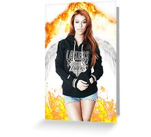 Random Model with Wings and fire Greeting Card