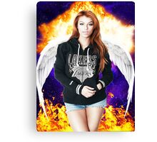 Random Model with Wings and fire in Nebula Canvas Print