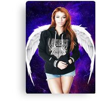 Random Model with Wings in Nebula Canvas Print