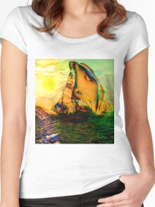 SAILING ON FLORIDA WATERS, by E. Giupponi Women's Fitted Scoop T-Shirt