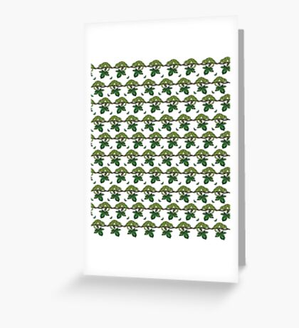 Chameleon Charm Greeting Card