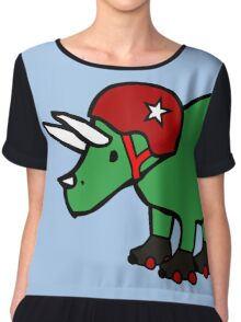 Roller Derby Triceratops Chiffon Top