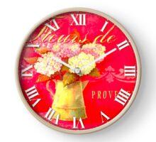 030 Wall Clock Provence flowers Clock