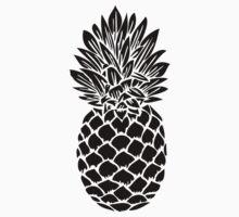 Pineapple | Black and White Kids Tee