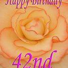 Happy 42nd Birthday Flower by martinspixs