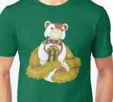 Patchwork Teddy Bear with Gold Garland Unisex T-Shirt