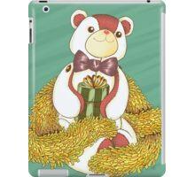 Patchwork Teddy Bear with Gold Garland iPad Case/Skin