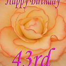Happy 43rd Birthday Flower by martinspixs