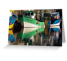 Colorful Trawlers Greeting Card