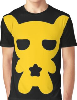 Lazy Bear Yellow Attention Graphic T-Shirt