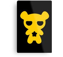 Lazy Bear Yellow Attention Metal Print