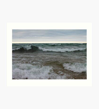 Superior waves Art Print