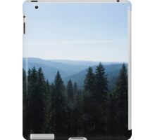 Photo of Scenic View of Tree Lined Valley iPad Case/Skin
